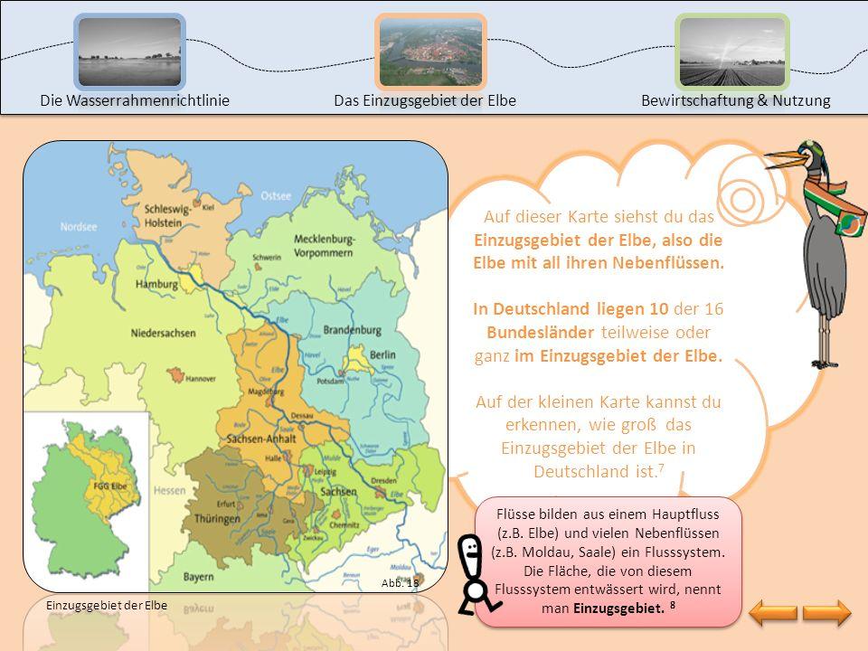 Das hast du super gemacht! Aber wo entspringt eigentlich die Elbe? Klicke auf den Wassertropfen, um es herauszufinden. Die WasserrahmenrichtlinieDas E