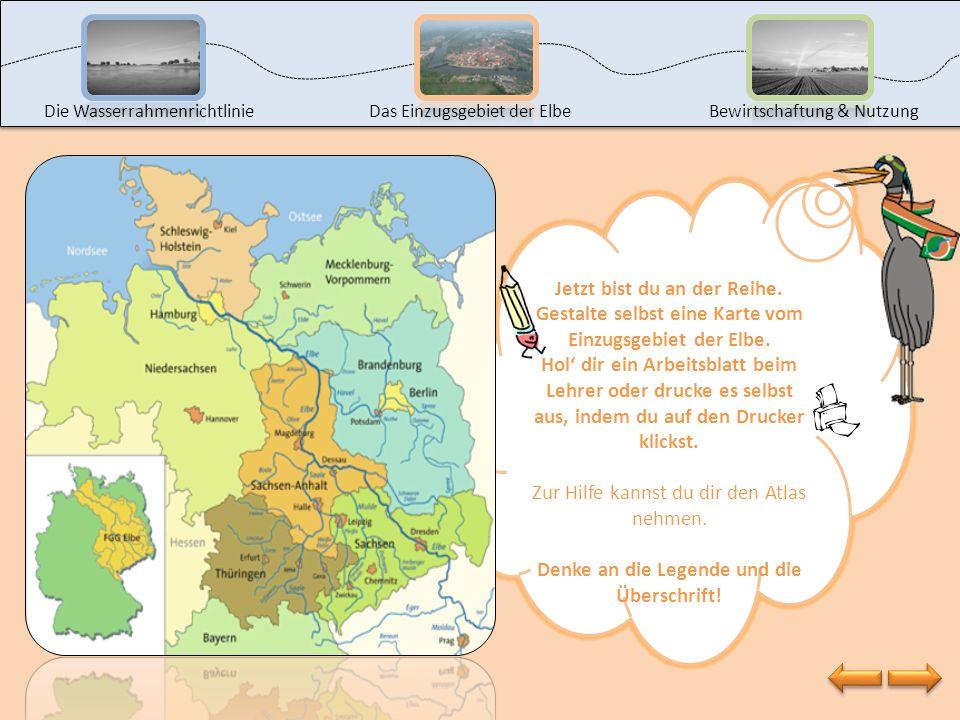 Die WasserrahmenrichtlinieDas Einzugsgebiet der ElbeBewirtschaftung & Nutzung Schau mal, hier sind Einzugsgebiete von Flüssen in ganz Europa zu sehen,