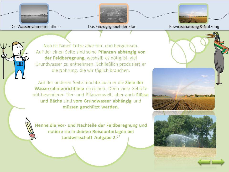 Bauer Fritze kommt aus Niedersachsen und baut vor allem Kartoffeln, Zuckerrüben, Mais und Getreide an. Damit seine Pflanzen schön wachsen können, müss