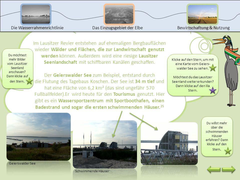 Wie kann man Tagebaurestlöcher rekultivieren? Welche Folgen hat die Rekultivierung für die Gewässer? Rekultivierung. Die Flutung der Seen kann man der