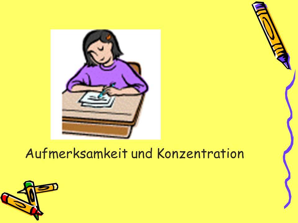 Aufmerksamkeit und Konzentration