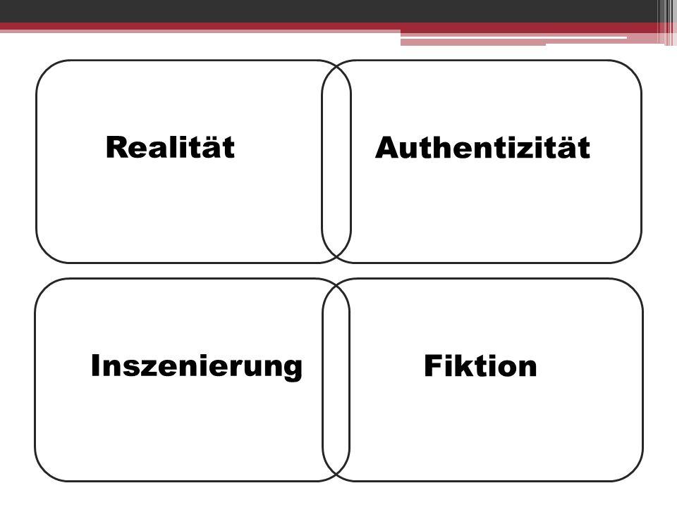 Realität Fiktion Inszenierung Authentizität