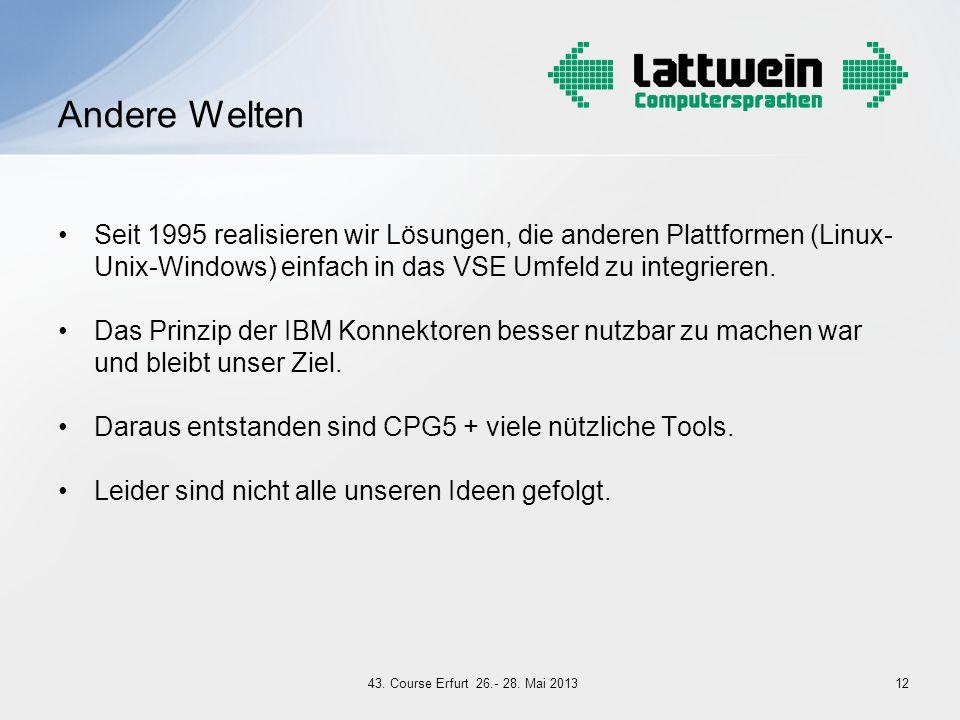 Seit 1995 realisieren wir Lösungen, die anderen Plattformen (Linux- Unix-Windows) einfach in das VSE Umfeld zu integrieren. Das Prinzip der IBM Konnek