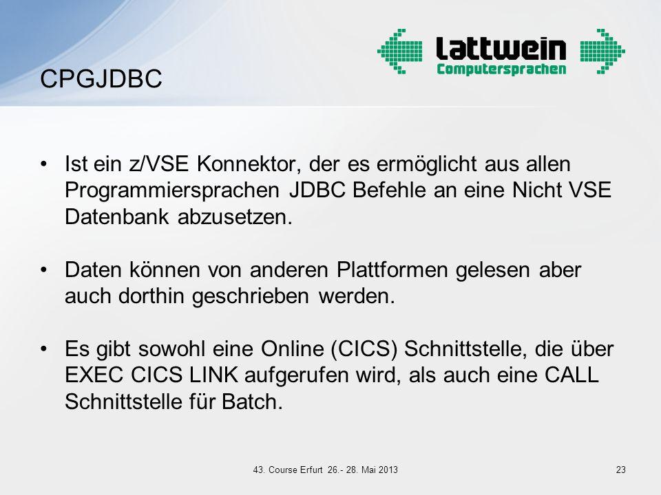 Ist ein z/VSE Konnektor, der es ermöglicht aus allen Programmiersprachen JDBC Befehle an eine Nicht VSE Datenbank abzusetzen. Daten können von anderen