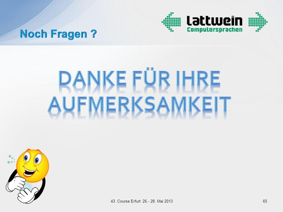 6543. Course Erfurt 26.- 28. Mai 2013
