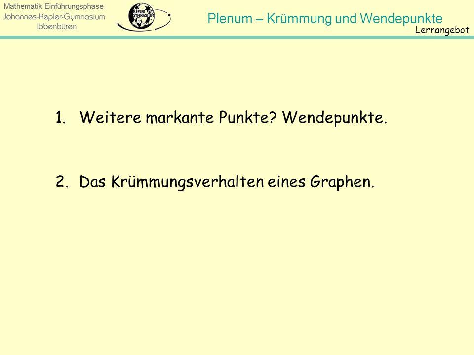 Plenum – Krümmung und Wendepunkte Johannes-Kepler- Gymnasium Wendepunkte