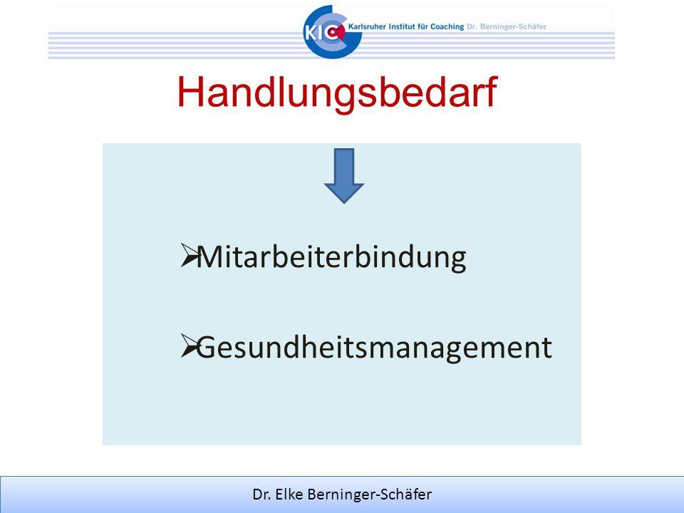 Dr. Elke Berninger-Schäfer Handlungsbedarf Mitarbeiterbindung Gesundheitsmanagement