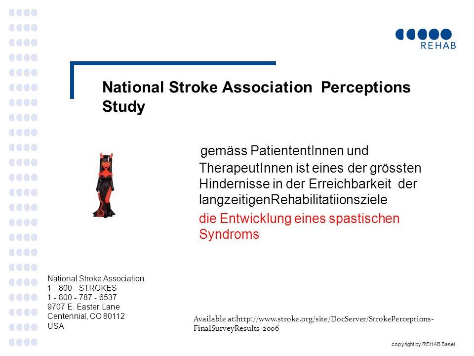 copyright by REHAB Basel Risikofaktoren für Stroke PSS Das schwedische Stroke register - einige wichtige Punkte Laufende Datenerhebung seit 1994, beinahe 300000 Pat; ca..