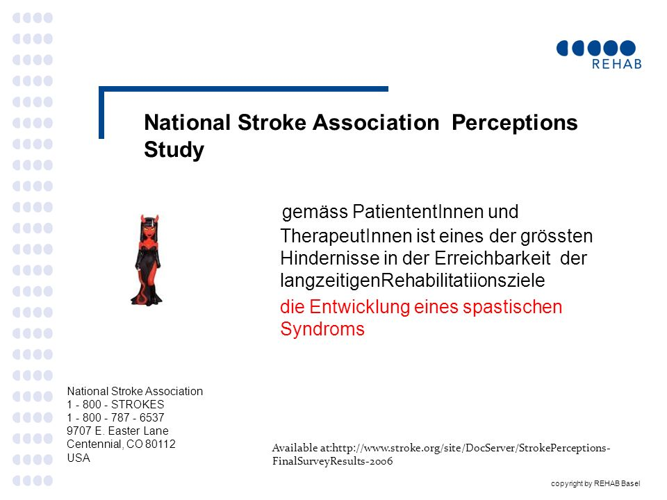 copyright by REHAB Basel Botulinum Toxin Therapie (Fall 3) ) 3.2 Erste Injektion Dez 2009 linkseitig nur OE M.