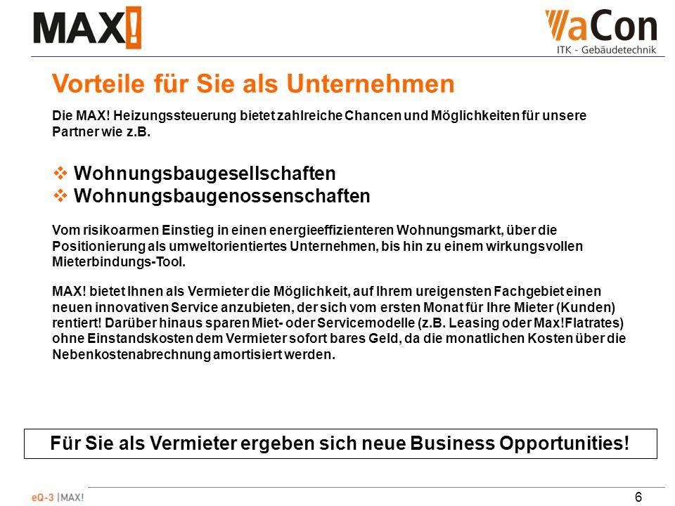 6 Für Sie als Vermieter ergeben sich neue Business Opportunities.