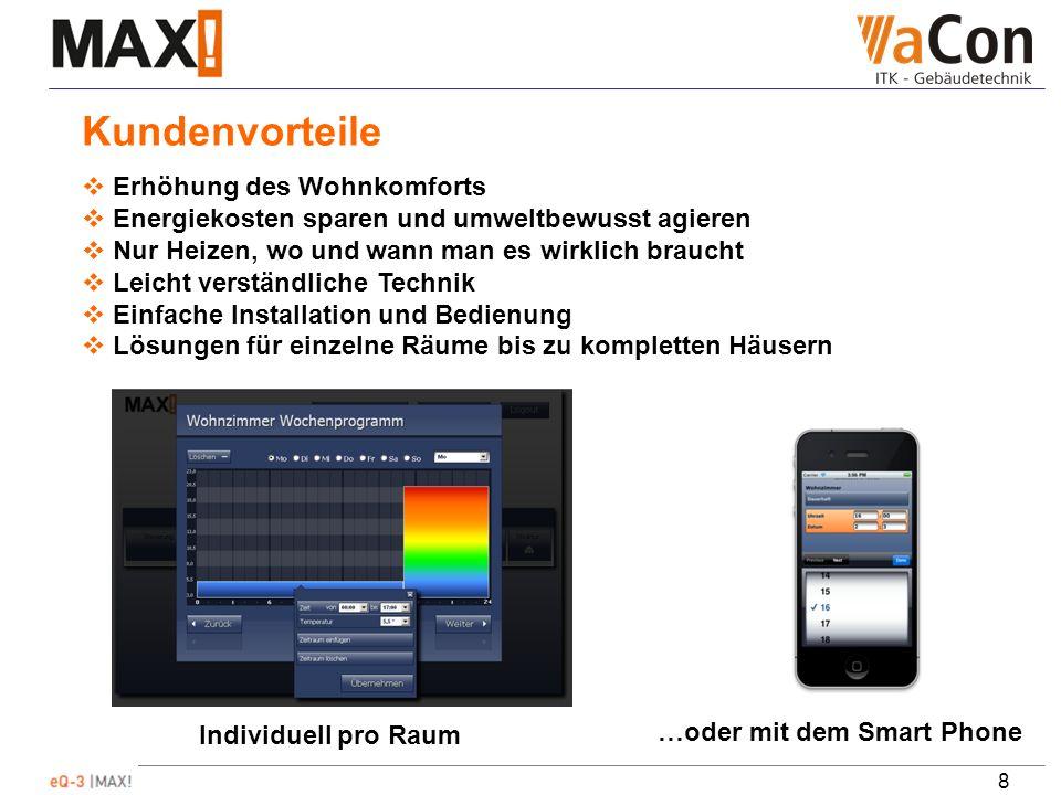 9 Die MAX.Komponenten Die Zentraleinheit zur Konfiguration und Programmierung des MAX.