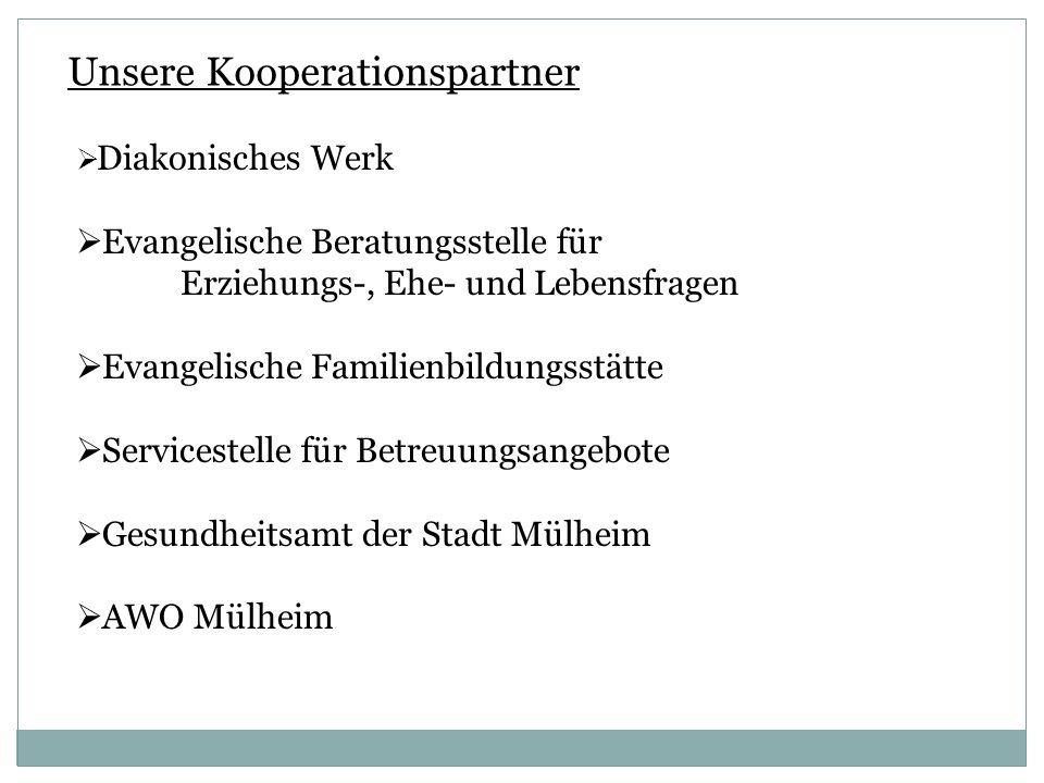 Unsere Kooperationspartner Diakonisches Werk Evangelische Beratungsstelle für Erziehungs-, Ehe- und Lebensfragen Evangelische Familienbildungsstätte S