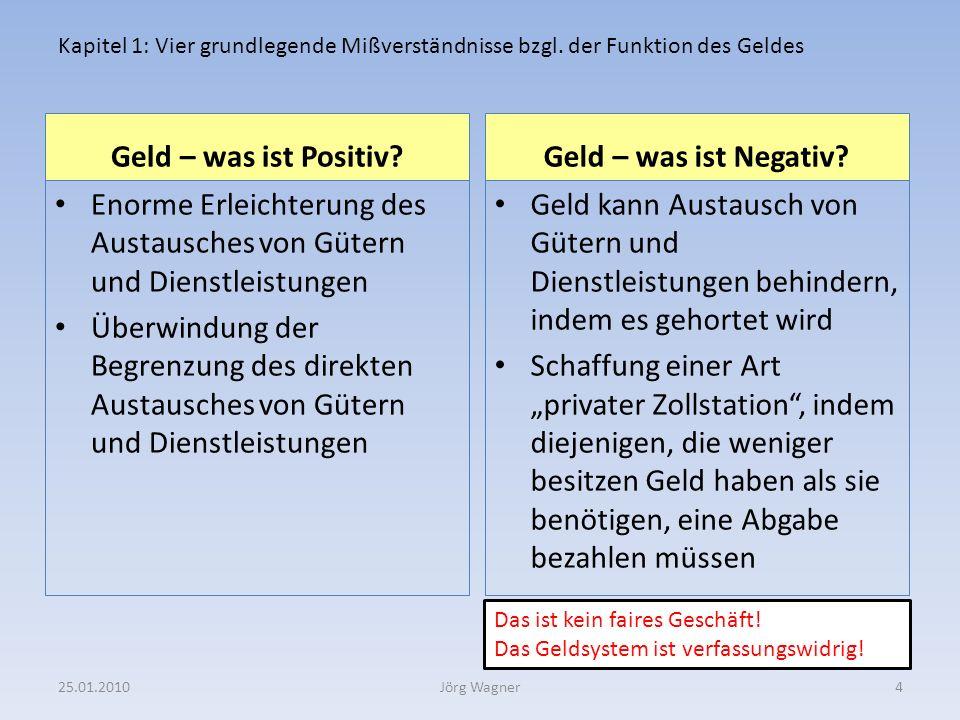 DARAUS FOLGT: Die Einführung eines neuen Geldsystems ist aktueller denn je 25.01.201025Jörg Wagner
