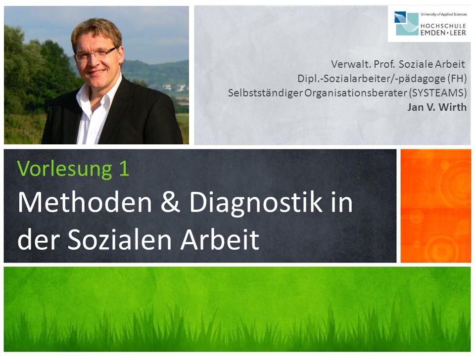 Vorlesung 1 Methoden & Diagnostik in der Sozialen Arbeit Verwalt. Prof. Soziale Arbeit Dipl.-Sozialarbeiter/-pädagoge (FH) Selbstständiger Organisatio