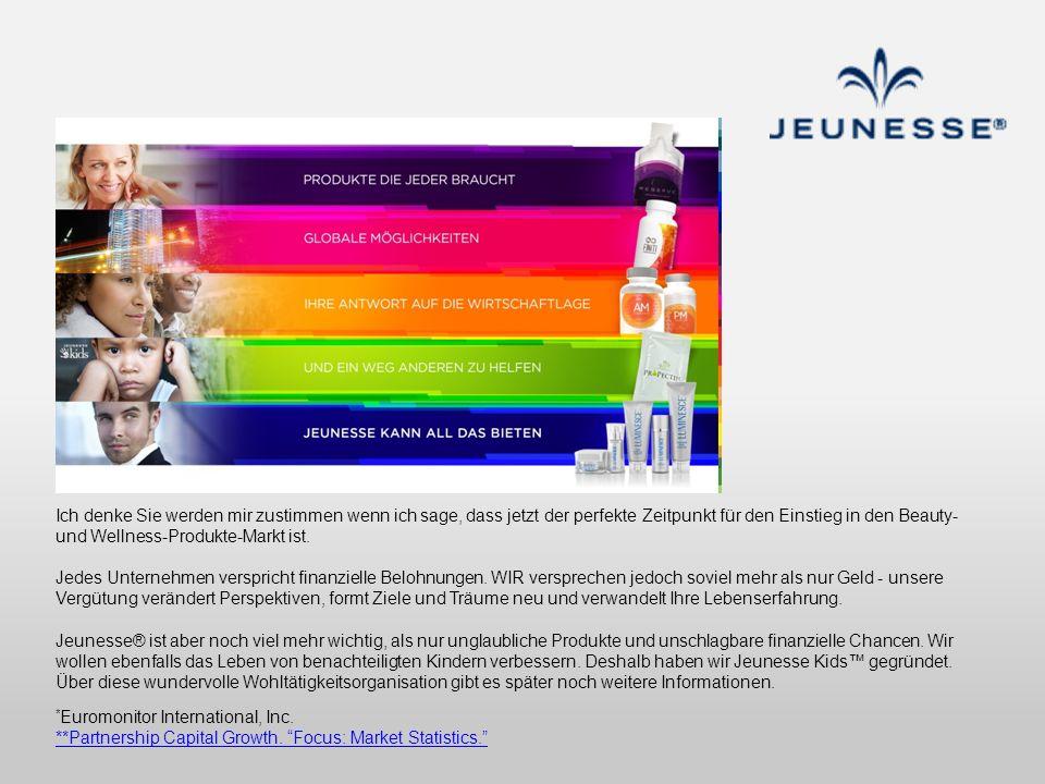 Ich denke Sie werden mir zustimmen wenn ich sage, dass jetzt der perfekte Zeitpunkt für den Einstieg in den Beauty- und Wellness-Produkte-Markt ist. J