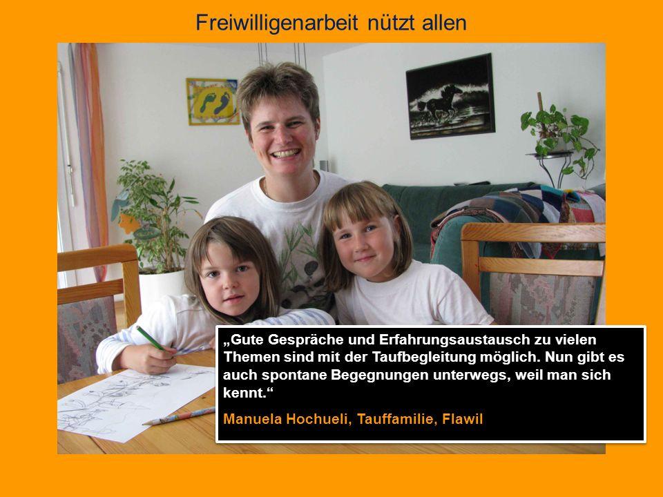 Freiwilligenarbeit nützt allen Die Deutsch- und Nähkurse eröffnen mir Zugänge zu anderen Menschen.