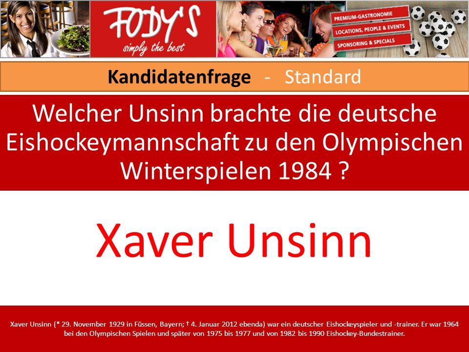 Kandidatenfrage - Standard Welcher Unsinn brachte die deutsche Eishockeymannschaft zu den Olympischen Winterspielen 1984 .