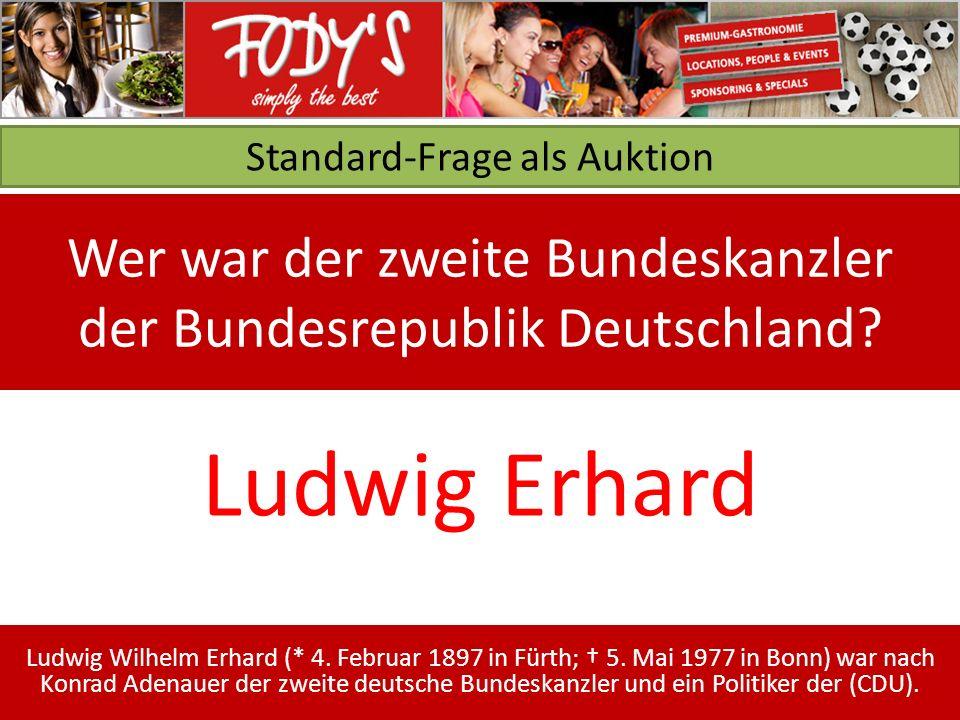 Standard-Frage als Auktion Wer war der zweite Bundeskanzler der Bundesrepublik Deutschland.
