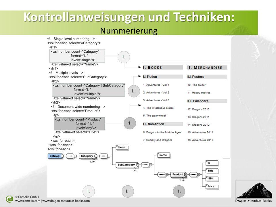 Kontrollanweisungen und Techniken: Kontrollanweisungen und Techniken: Nummerierung