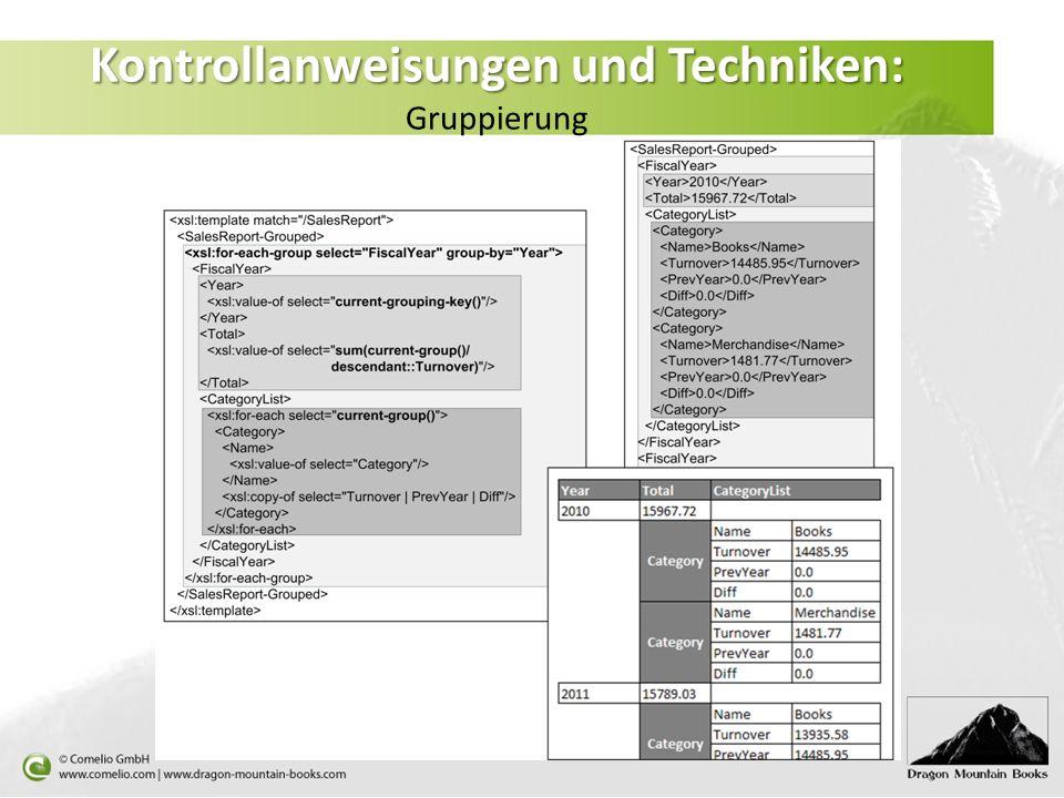Kontrollanweisungen und Techniken: Kontrollanweisungen und Techniken: Gruppierung