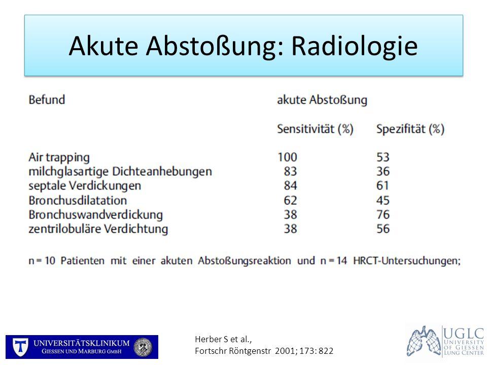 Akute Abstoßung: Radiologie Herber S et al., Fortschr Röntgenstr 2001; 173: 822