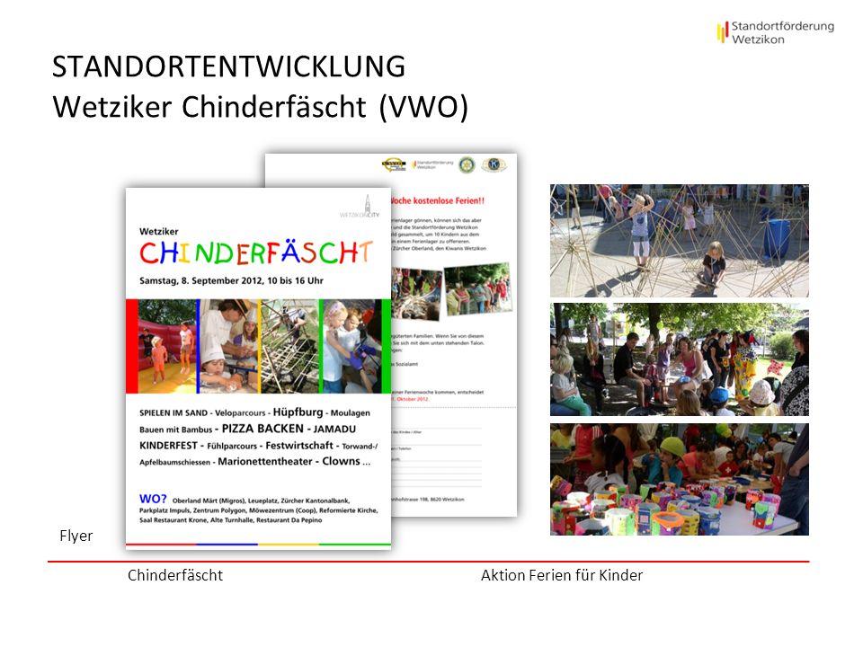STANDORTENTWICKLUNG Wetziker Chinderfäscht (VWO) Flyer Chinderfäscht Aktion Ferien für Kinder