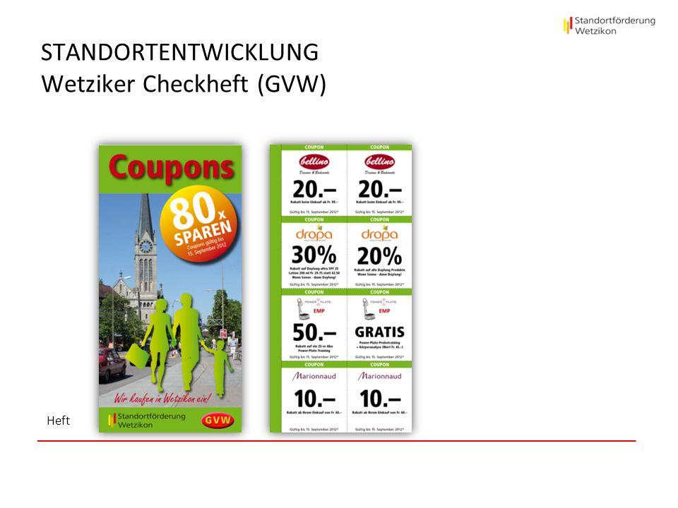 STANDORTENTWICKLUNG Wetziker Checkheft (GVW) Heft