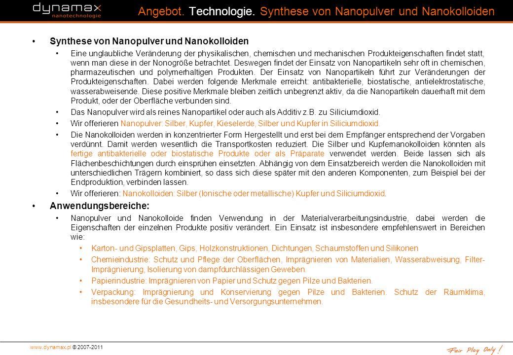 www.dynamax.pl © 2007-2011 Angebot.Technologie.