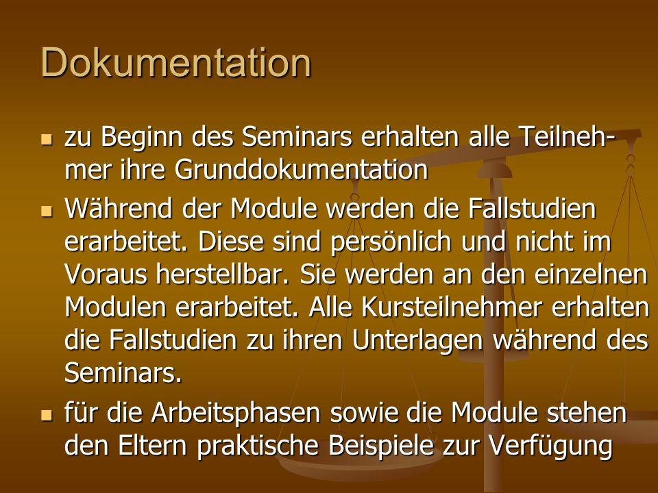 Dokumentation zu Beginn des Seminars erhalten alle Teilneh- mer ihre Grunddokumentation zu Beginn des Seminars erhalten alle Teilneh- mer ihre Grunddo