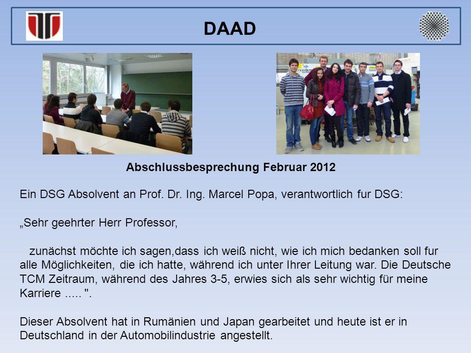 Ein DSG Absolvent an Prof.Dr. Ing.