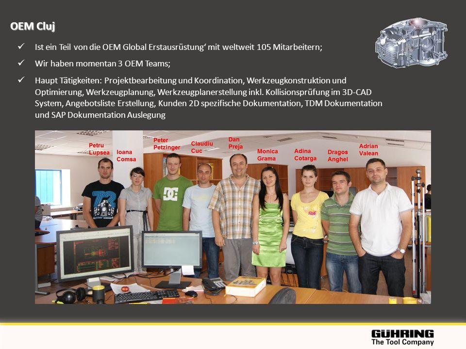 Ist ein Teil von die OEM Global Erstausrüstung mit weltweit 105 Mitarbeitern; Wir haben momentan 3 OEM Teams; Haupt Tätigkeiten: Projektbearbeitung un