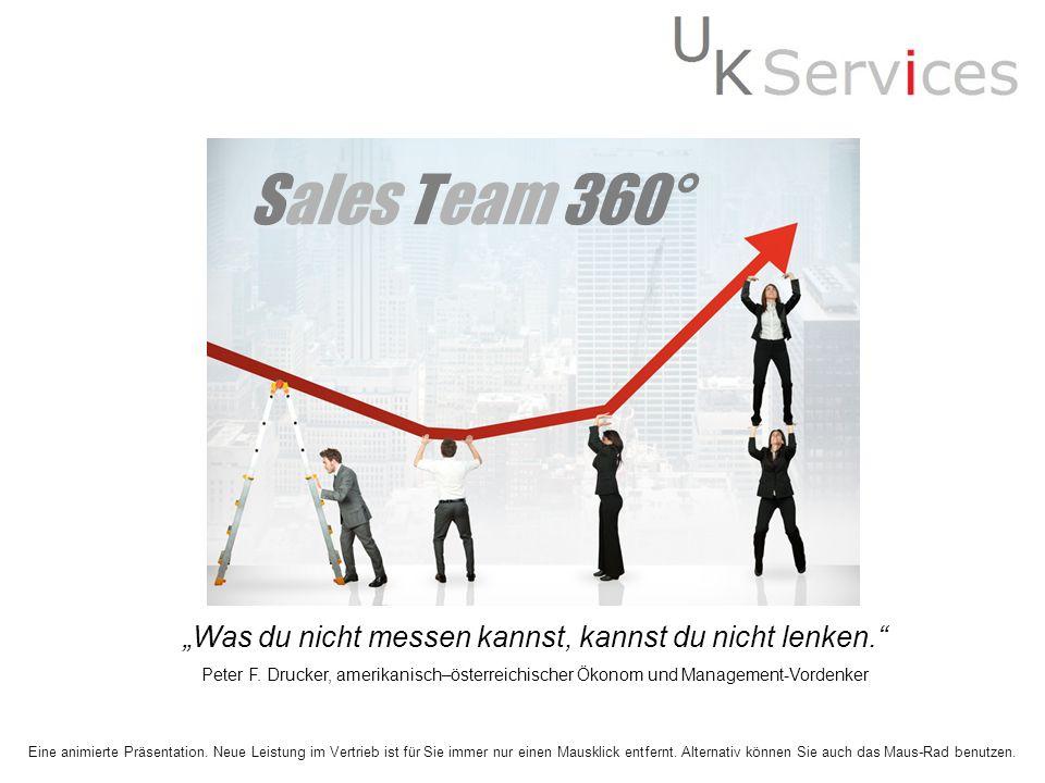 Sales Team 360° Was du nicht messen kannst, kannst du nicht lenken. Peter F. Drucker, amerikanisch–österreichischer Ökonom und Management-Vordenker Ei