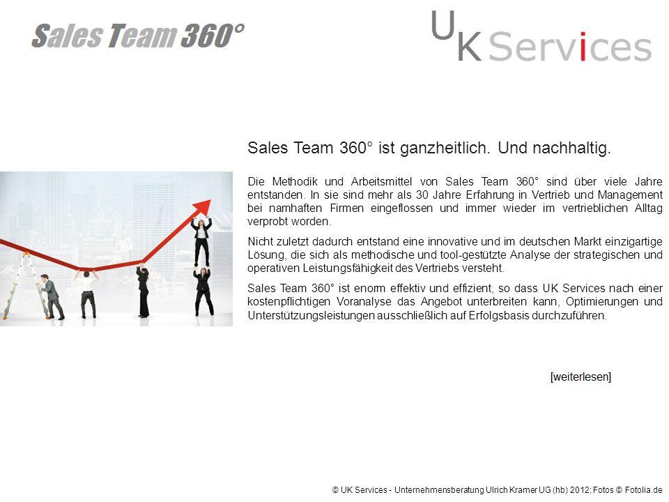 Sales Team 360° ist ganzheitlich. Und nachhaltig. Die Methodik und Arbeitsmittel von Sales Team 360° sind über viele Jahre entstanden. In sie sind meh