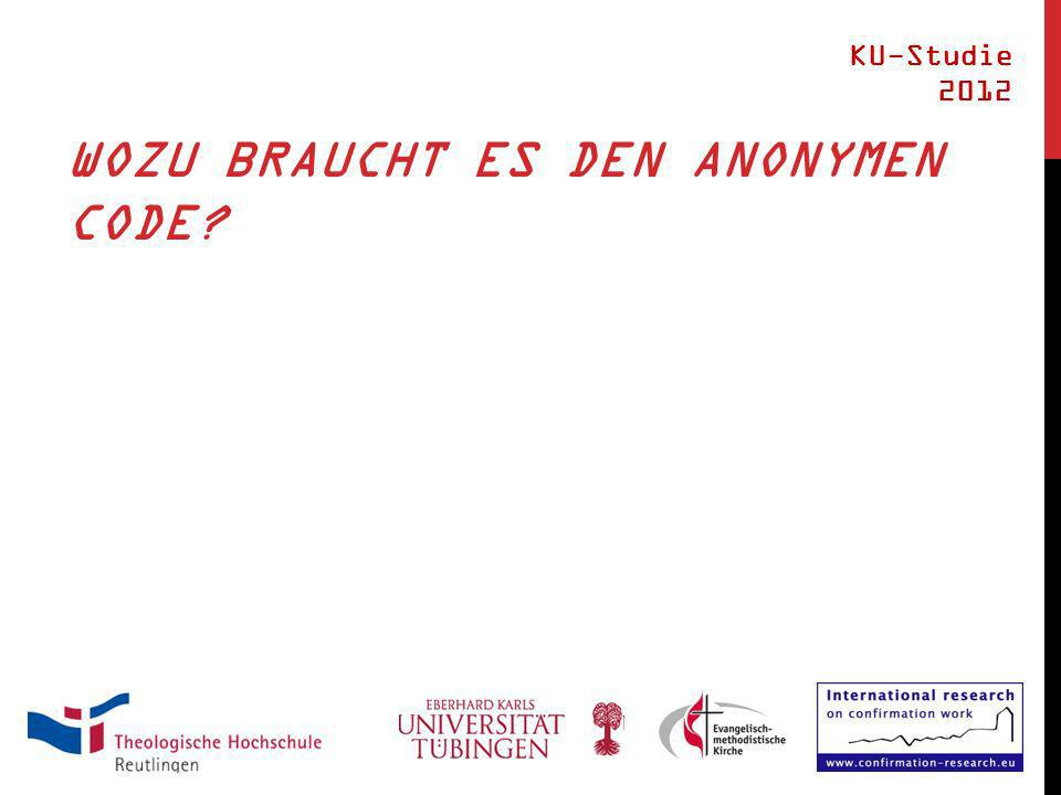 WOZU BRAUCHT ES DEN ANONYMEN CODE KU-Studie 2012