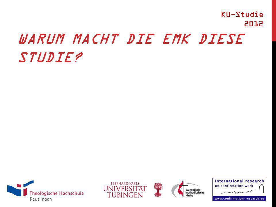 WARUM MACHT DIE EMK DIESE STUDIE? KU-Studie 2012