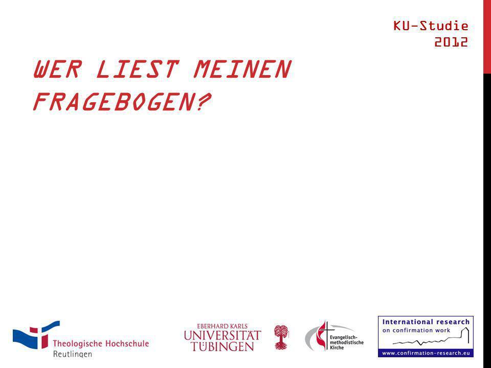 WER LIEST MEINEN FRAGEBOGEN KU-Studie 2012