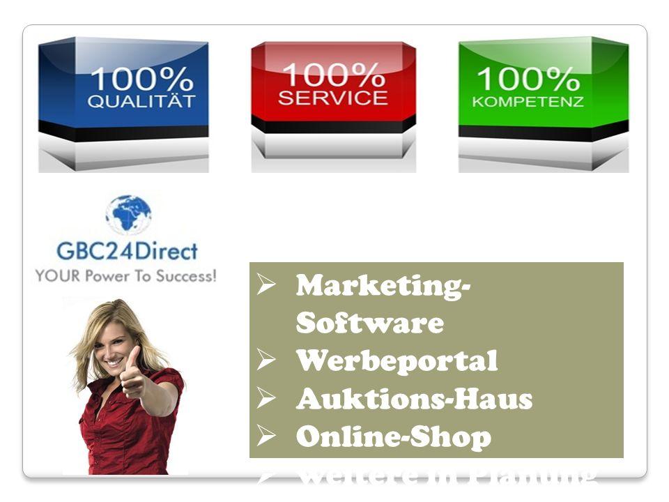 Marketing- Software Werbeportal Auktions-Haus Online-Shop weitere in Planung