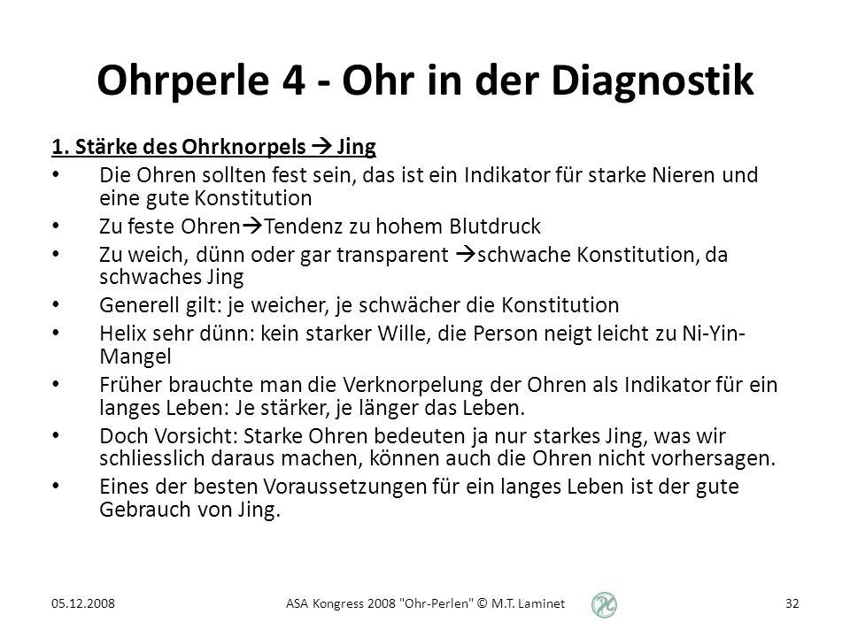 Ohrperle 4 - Ohr in der Diagnostik 1.