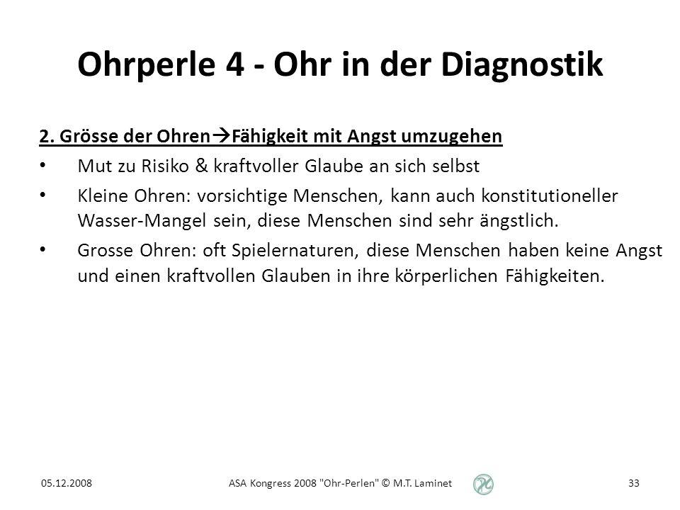 Ohrperle 4 - Ohr in der Diagnostik 2.