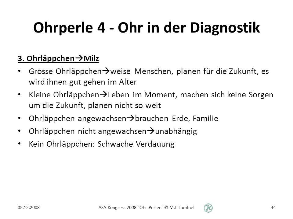Ohrperle 4 - Ohr in der Diagnostik 3.