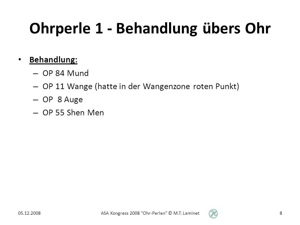 Ohrperle 4 - Ohr in der Diagnostik Akustische Diagnostik: Das Hören (Wén) ist zusammen mit Riechen eine der 4 diagnostischen Methoden (Si Zhen) der TCM, neben Sehen (Wang), Fragen (Wèn) und Tasten (Qie).