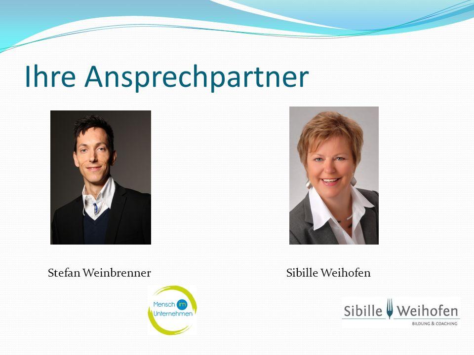 Ihre Ansprechpartner Sibille WeihofenStefan Weinbrenner