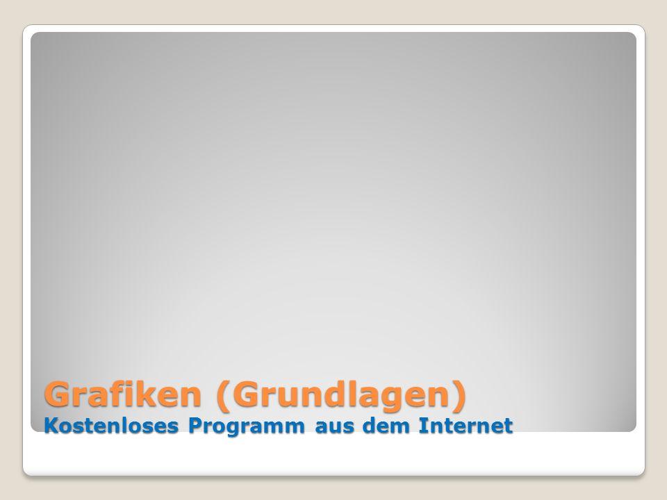 Grafiken (Grundlagen) Kostenloses Programm aus dem Internet