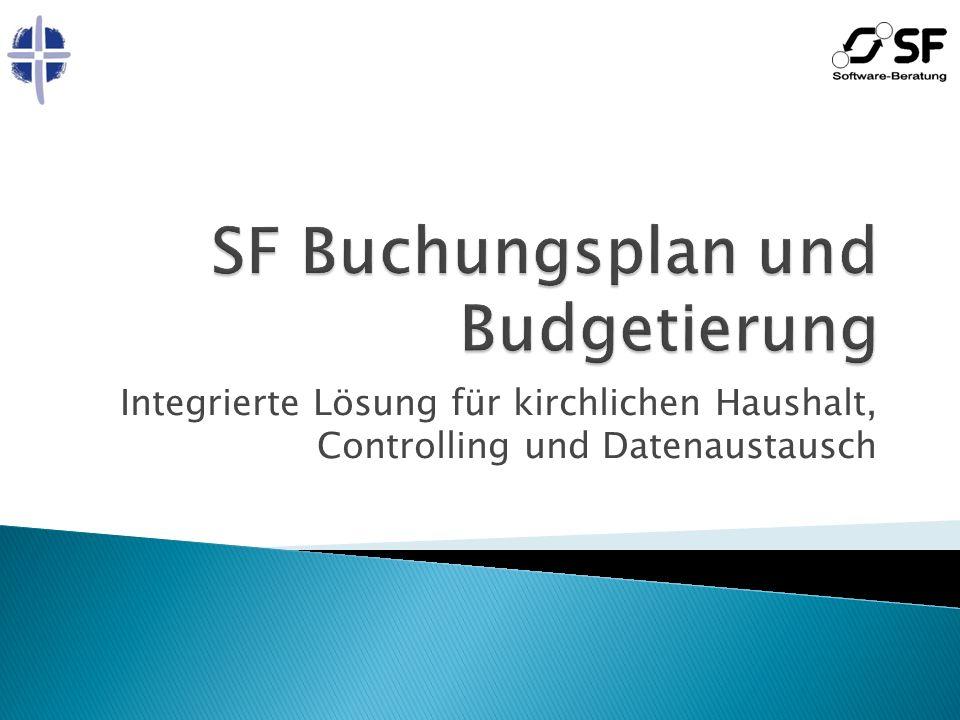 Erstsynchronisation Alle Haushaltsdaten können von KFM (oder Kifikos) übernommen werden Haushaltsplanung Haushaltsstellen usw.