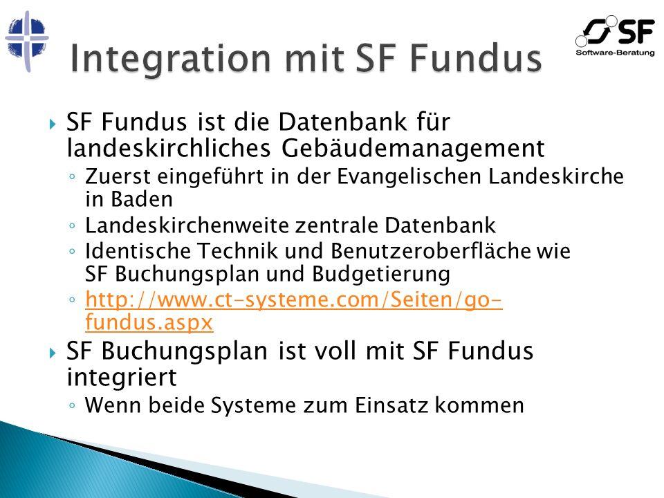 SF Fundus ist die Datenbank für landeskirchliches Gebäudemanagement Zuerst eingeführt in der Evangelischen Landeskirche in Baden Landeskirchenweite ze