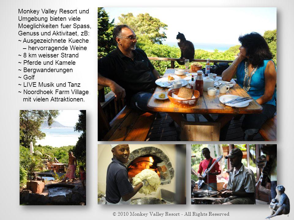 Monkey Valley Resort und Umgebung bieten viele Moeglichkeiten fuer Spass, Genuss und Aktivitaet, zB: ~ Ausgezeichnete Kueche – hervorragende Weine ~ 8