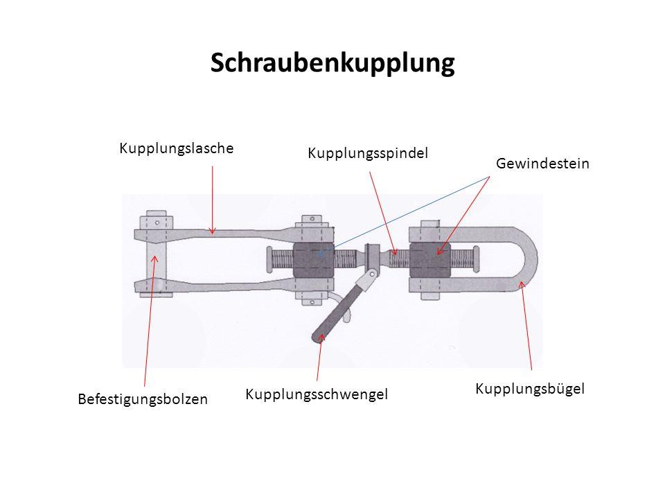 Schraubenkupplung Kupplungslasche Kupplungsspindel Gewindestein Befestigungsbolzen Kupplungsschwengel Kupplungsbügel