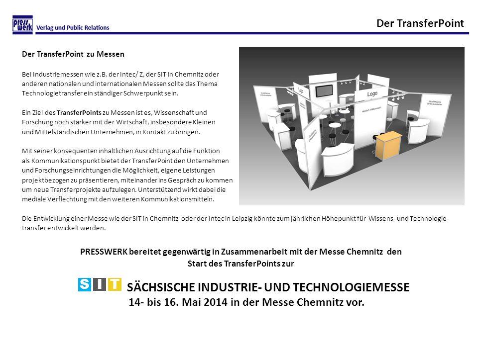 Der TransferPoint zu Messen Bei Industriemessen wie z.B.