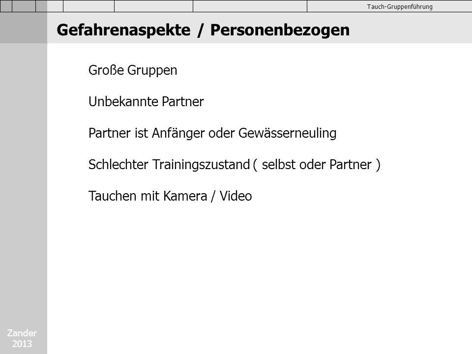 Zander 2013 Tauch-Gruppenführung Abtauchen Abtauchstop ca.
