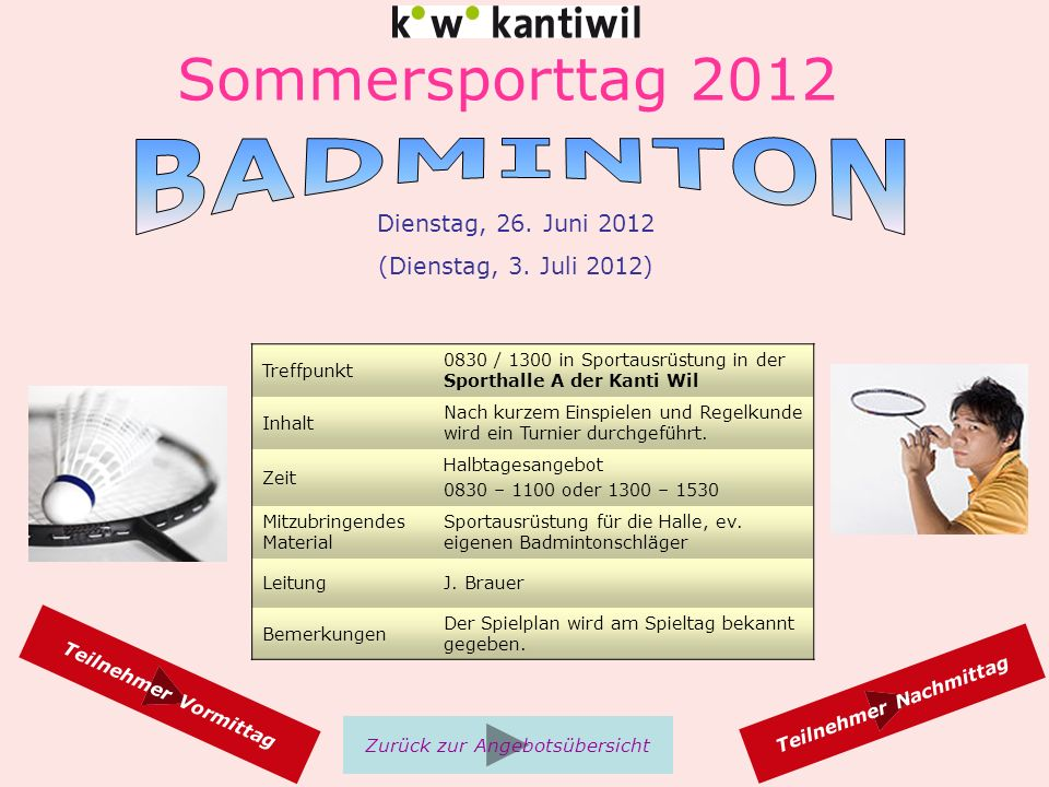 Sommersporttag 2012 Dienstag, 26.Juni 2012 (Dienstag, 3.